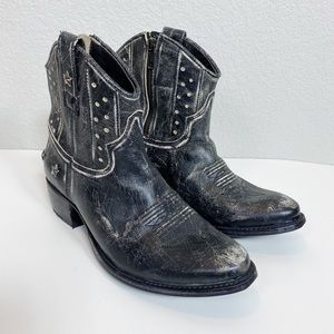 Steven By Steve Madden Distressed Star Boots 8